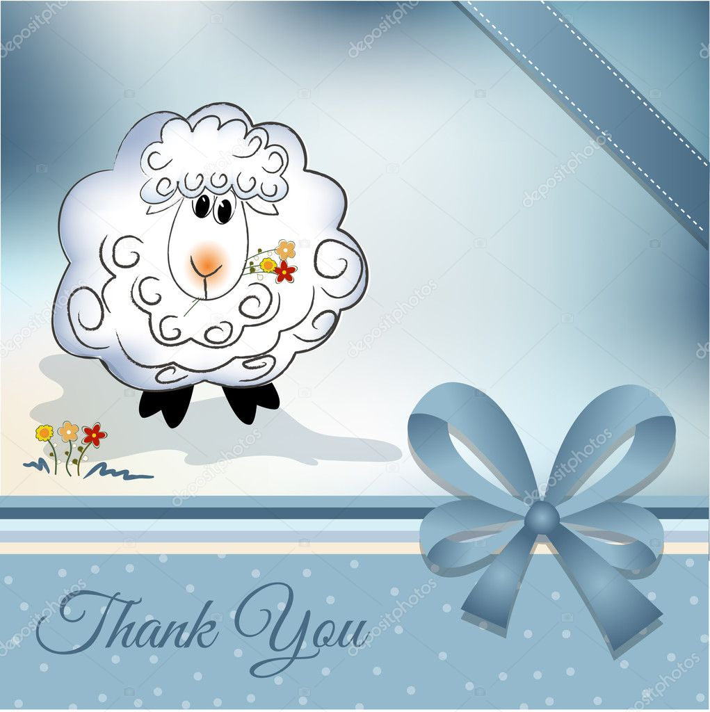 Thank you greeting card  — Stock Photo #5562529