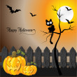 Halloween greeting card — Stock Photo