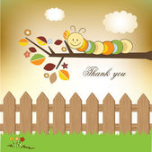 Thank you greeting card — Stock Photo