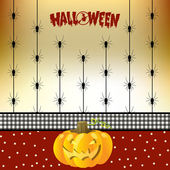 Halloween karta s pavouky — Stock fotografie