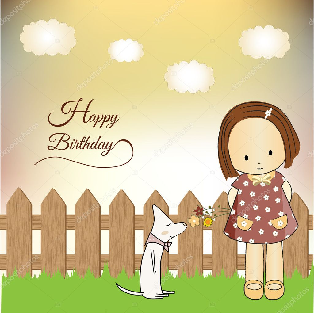 Birthday greeting card — Stock Photo #5571711