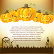 Stock Photo: Halloween Illustration with Pumpkins for invite cards