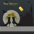 Stock Photo: Halloween invitation