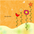 Stock Photo: Spring greeting card