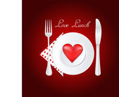 Love lunch — Stock Photo