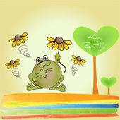 Happy frog — Stock Photo