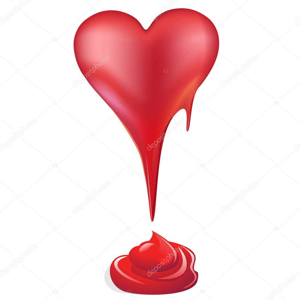Red heart  — Stock Photo #5602244