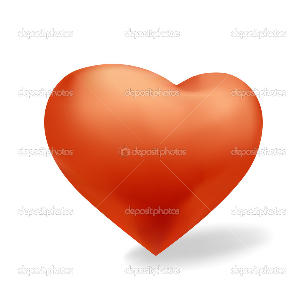 Red heart   Stock Photo #5602276