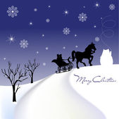 Christmas sled — Stock Photo