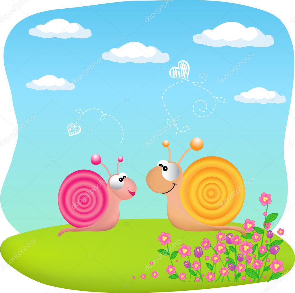 Snails in love  — Stock Photo #5614936