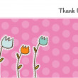 Thank you flowers card  — Stock Photo