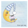 Stock Photo: Welcome baby greetings card