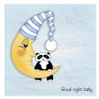 Welcome baby greetings card — Stock Photo
