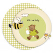 Baby shower greeting card — Stock Photo