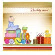 Stock Photo: Customizable birthday greeting card with train