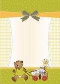 Carte de voeux bébé douche — Photo