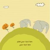 小象和他的母亲 — 图库照片