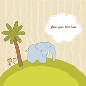 Um pequeno elefante — Fotografia Stock