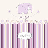 Baby girl shower card — Stock Photo