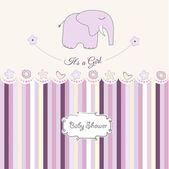 Baby girl shower card — Stock Photo