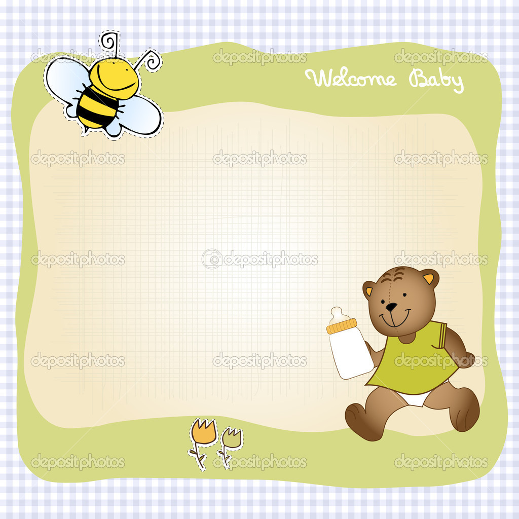 Baby shower greeting card - Stock Photo
