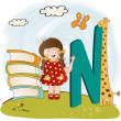 Children alphabet letters ''n'' - Stock Photo