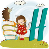 Children alphabet letters ''h'' — Stock Photo