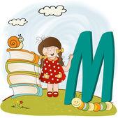 Children alphabet letters ''m'' — Stock Photo