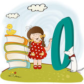 Children alphabet letters ''o'' — Stock Photo