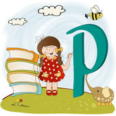 Children alphabet letters 'p'' — Stock Photo
