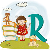 Children alphabet letters ''r'' — Stock Photo