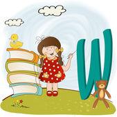 Children alphabet letters ''w'' — Foto de Stock