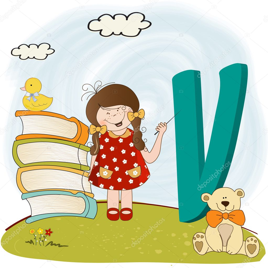 Children alphabet letters ''v''  Stock Photo #5977914