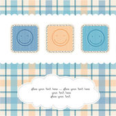 Happy faces greeting card — Stock Photo