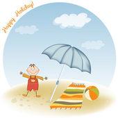 Little boy on the beach — Stock Photo