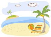Beautiful beach landscape — Stock Photo