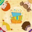 Kids celebrating birthday party — Stock Photo #6446506