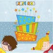 Kids celebrating birthday party — Stock Photo #6446507