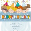 Kids celebrating birthday party — Stock Photo #6447501