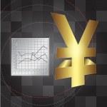 Financial background 3d yen sign — Stock Photo #6447804
