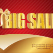 3D big sale, made of pure, beautiful luxury gold - Стоковая фотография