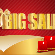 3D big sale, made of pure, beautiful luxury gold - Stock Photo
