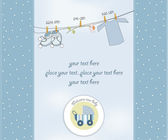 New baby boy shower card — Stock Photo