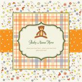 Romantic baby shower card — Stock Photo