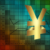 Financial background 3d yen sign — Stockfoto