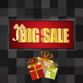 3D big sale, made of pure, beautiful luxury gold — Stock Photo