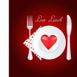 Love Lunch — Foto Stock