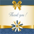 Thank you greetings card — Stock Photo #6466967