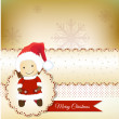 Stock Photo: Christmas greetings card