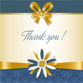 Thank you greetings card — Stock Photo